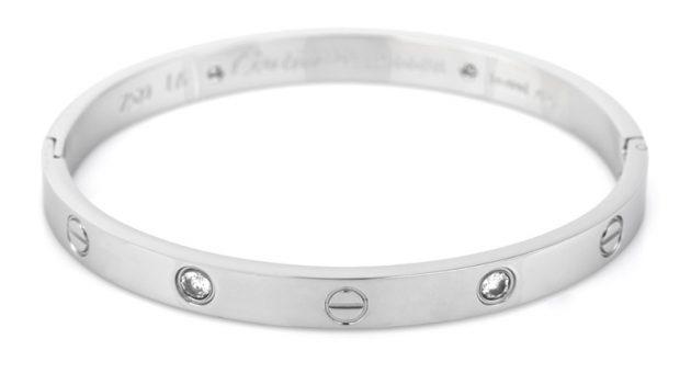 Platinum Cartier Love Bracelet