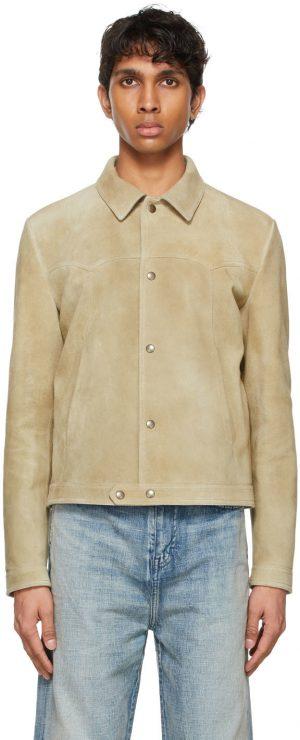 Saint Laurent Beige Suede Short Jacket