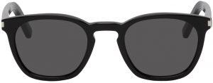Saint Laurent Black Classic SL 28 Round Sunglasses