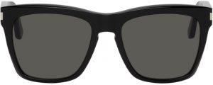 Saint Laurent Black SL 137 Devon Square Sunglasses