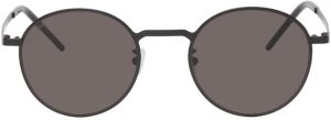 Saint Laurent Black SL 250 Slim Round Sunglasses