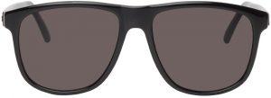 Saint Laurent Black SL 334 Signature Round Sunglasses