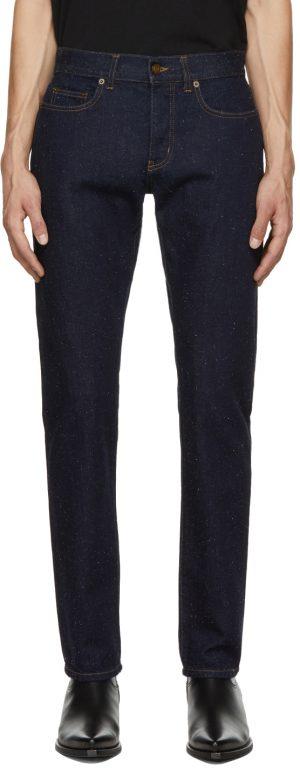 Saint Laurent Black Speckled Etienne Jeans