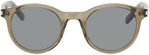 Saint Laurent Brown SL 342 Round Sunglasses