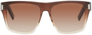 Saint Laurent Brown SL 424 Square Sunglasses