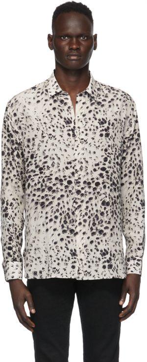 Saint Laurent Off-White & Black Spotted Shirt