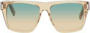 Saint Laurent Yellow SL 424 Square Sunglasses