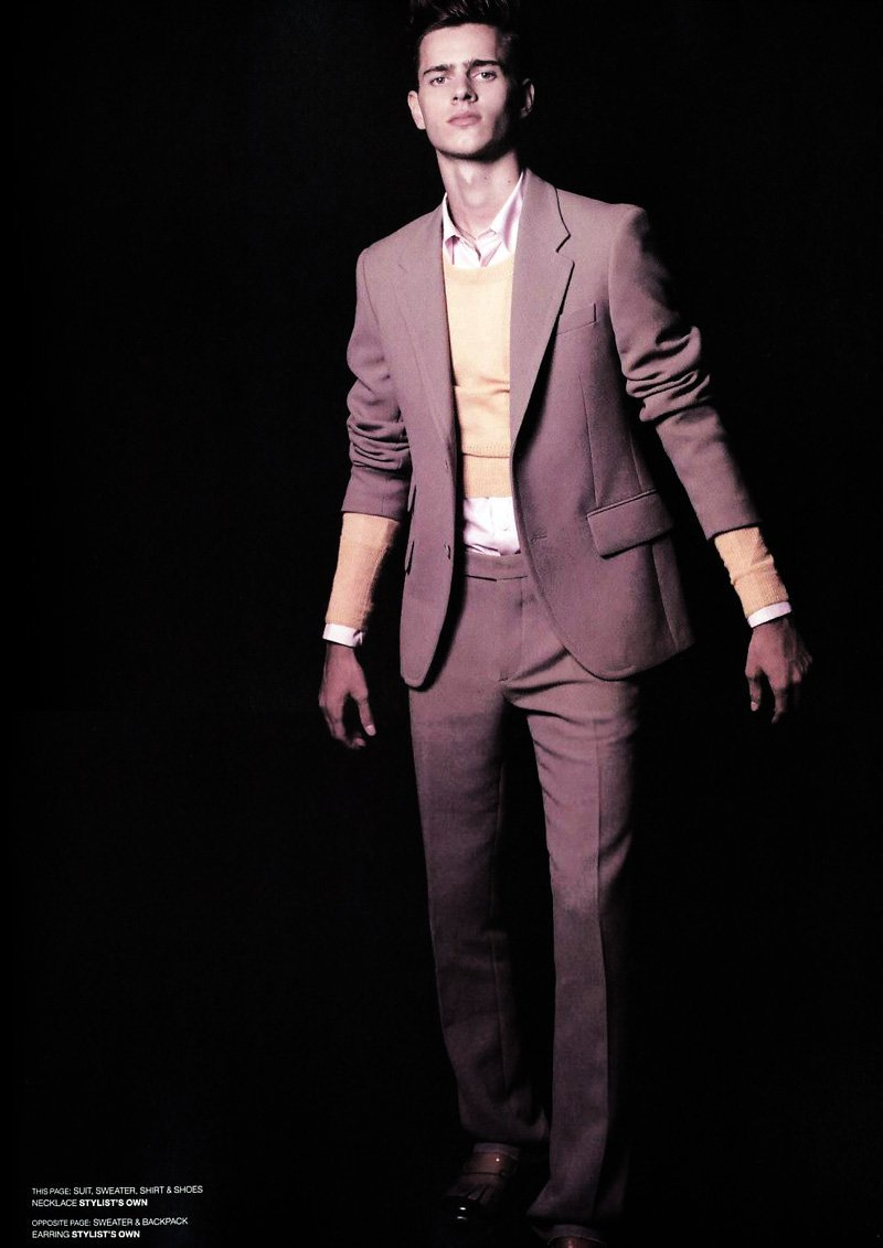 Adnan Djinovic by Antonin Guidicci in Prada for Common & Sense Man October 2010