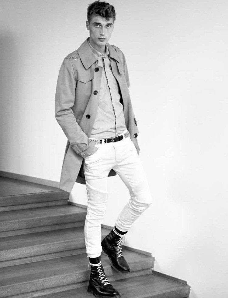 Clément Chabernaud by Karim Sadli for Balmain Homme Spring 2011 Campaign & Lookbook