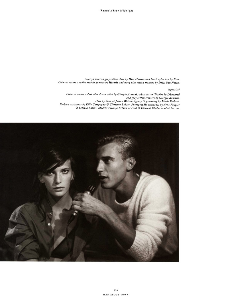 Clément Chabernaud by Paolo Roversi in 'Round About Midnight for Man About Town
