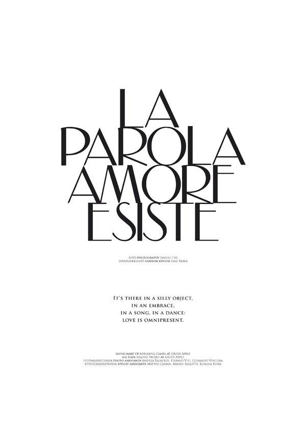 La Parola Amore Esiste by Emilio Tini for The Room