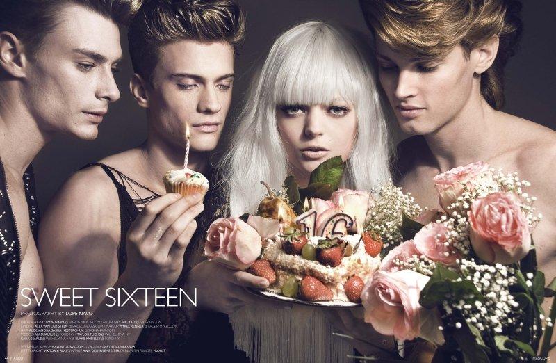 AJ Abualrub, Taylor Fuchs & Blake Kneisley by Lope Navo in Sweet Sixteen for Fiasco