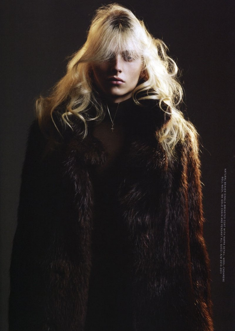 Andrej Pejic by Willy Vanderperre in Gucci for Arena Homme+