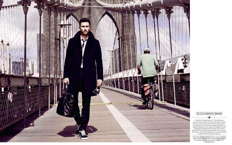 Noah Mills by Barnaby Roper for GQ France December 2010