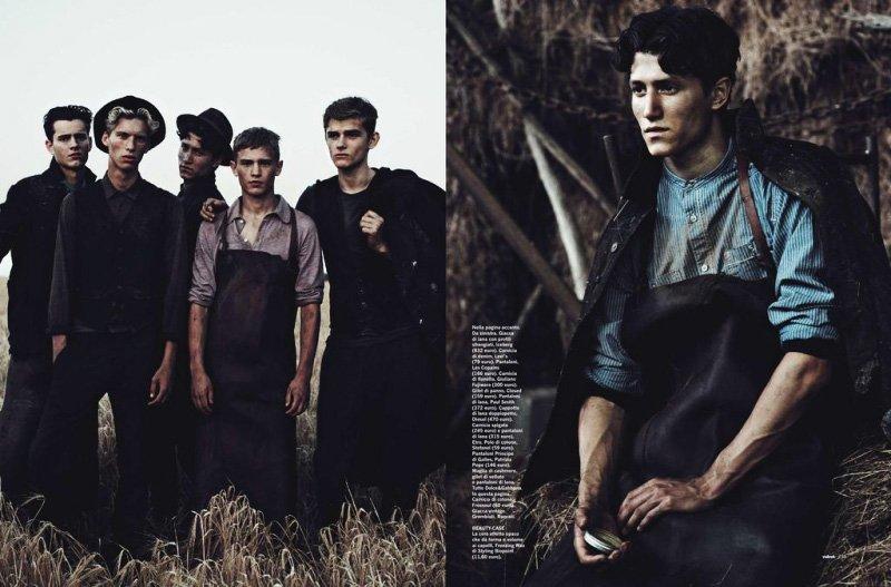Taras Koltun, Bo Develius, Wael Sersoub, Adnan Djinovic & Thomas Aoustet by Matthew Brookes for Velvet Magazine
