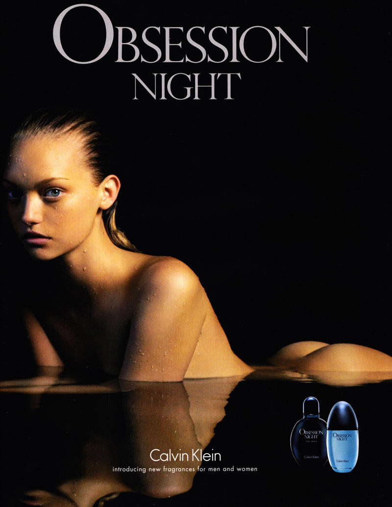 Calvin Klein Obsession Night Fragrance Campaign