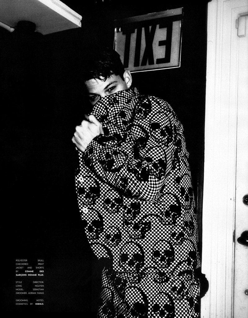 Sebastian Sauve by Kevin Amato for Flaunt Magazine