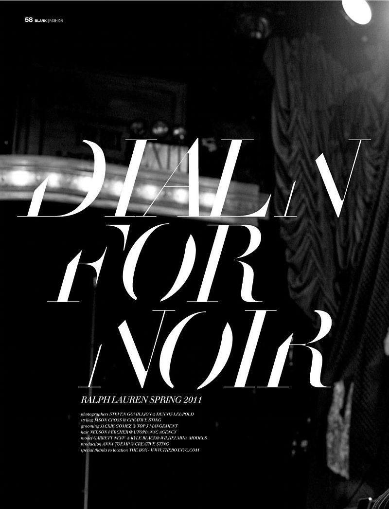 Garrett Neff by Gomillion & Leupold for Blank Magazine