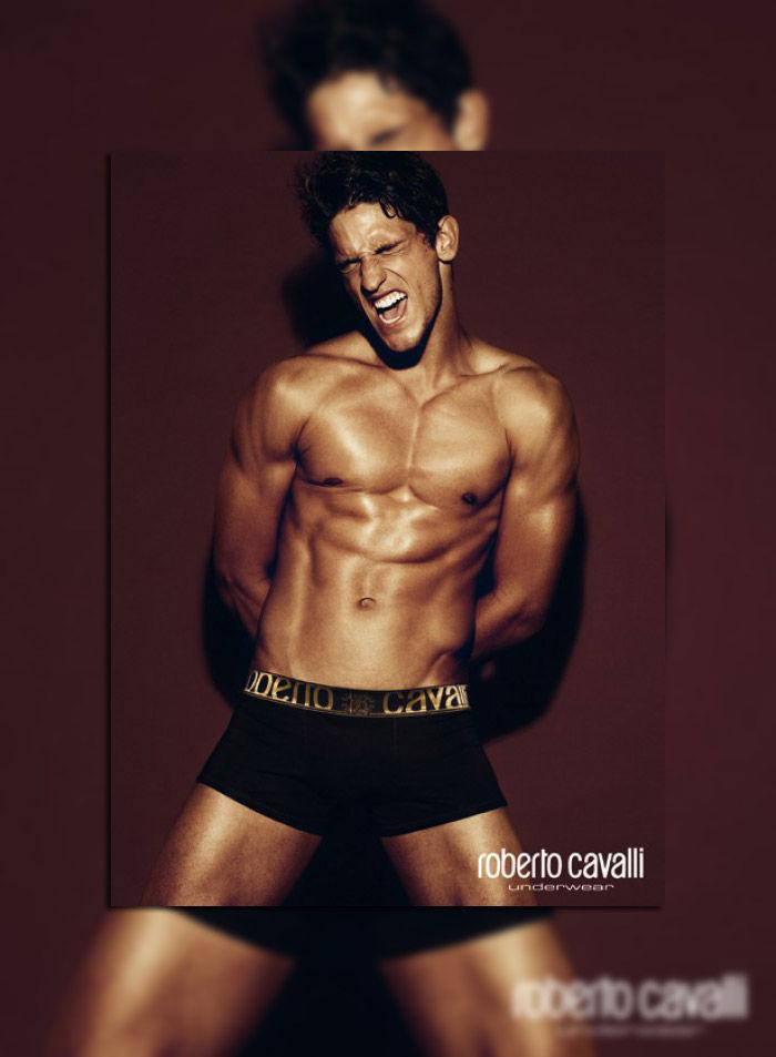 Miro Moreira by Giampaolo Sgura for Roberto Cavalli Underwear Campaign