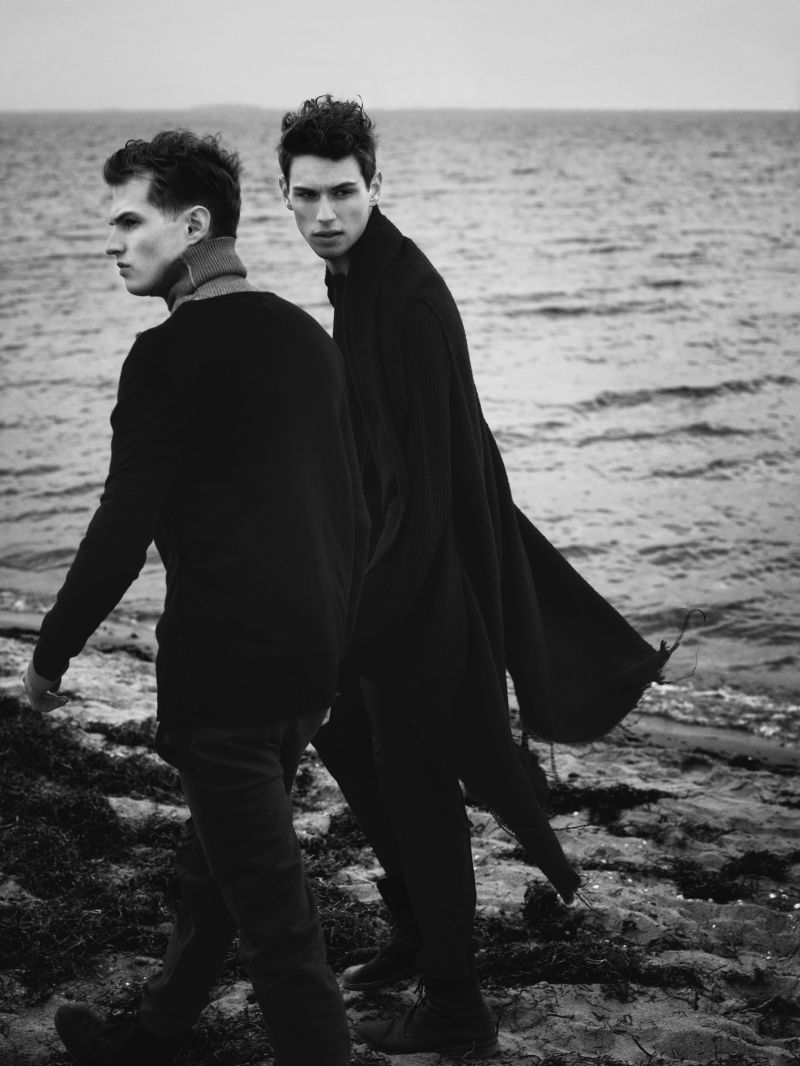 Adrian Bosch & Victor Norlander by Krzysztof Herholdt in The Beach for The Fashionisto