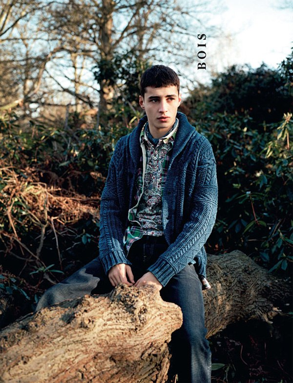 Adrien Sahores by Angelo Pennetta in Bois | Arena Homme+ Summer/Autumn 2010