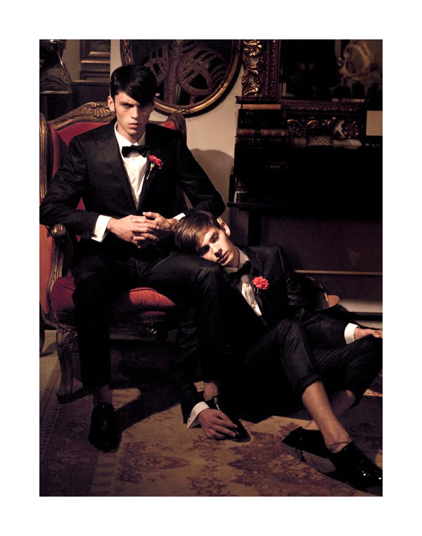 Silviu Tolu & Mike Scar by Tibi Clenci for Elle October 2010
