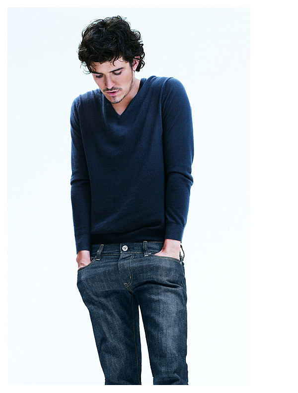 Orlando Bloom by Steven Klein for Uniqlo Slim Fit Jeans Campaign